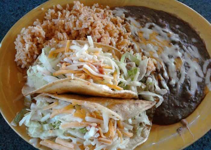 Super Mex beef tacos