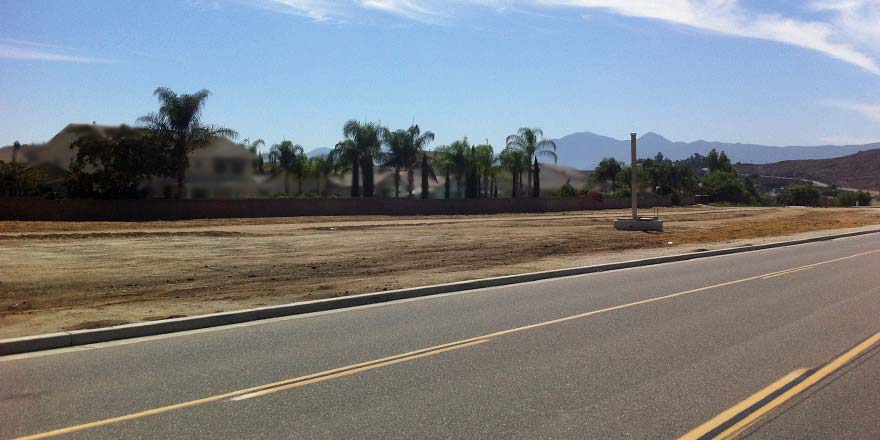 MWD Dirt Lot - no more orange trees