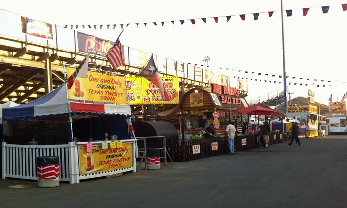 Some of the food stands at the 2012 So Cal Fair