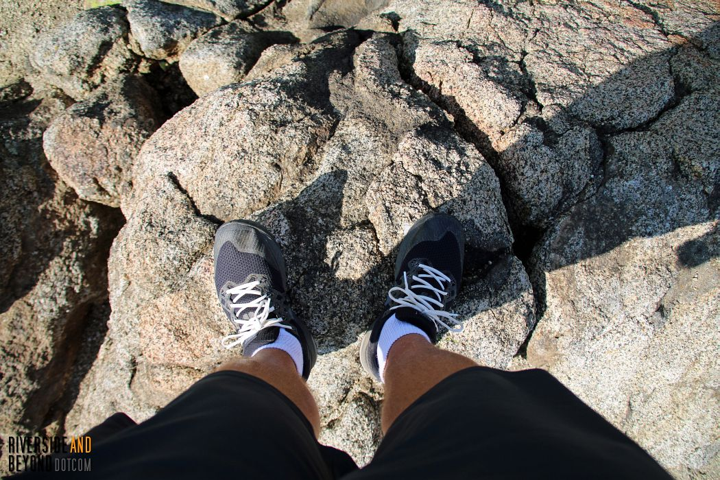 Standing on the tip-top of Terri Peak. (I don't recommend climbing up here. A fall could have been disastrous.)