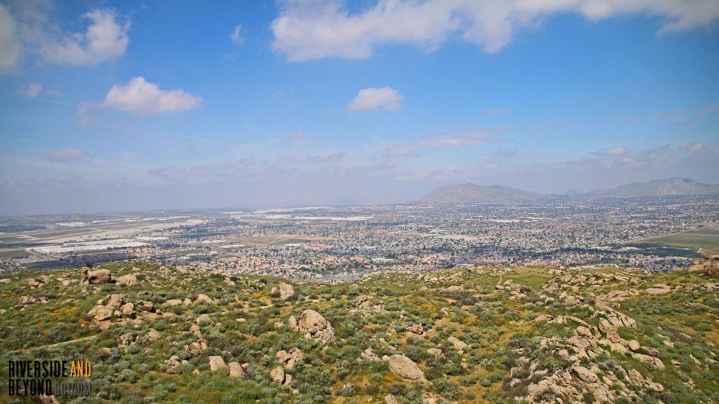 Box Springs Mountain is visible from Terri Peak.