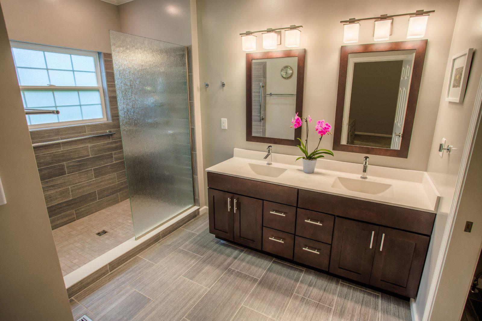 West Lafayette Contemporary Master Bathroom Remodel ... on Restroom Renovation  id=72029