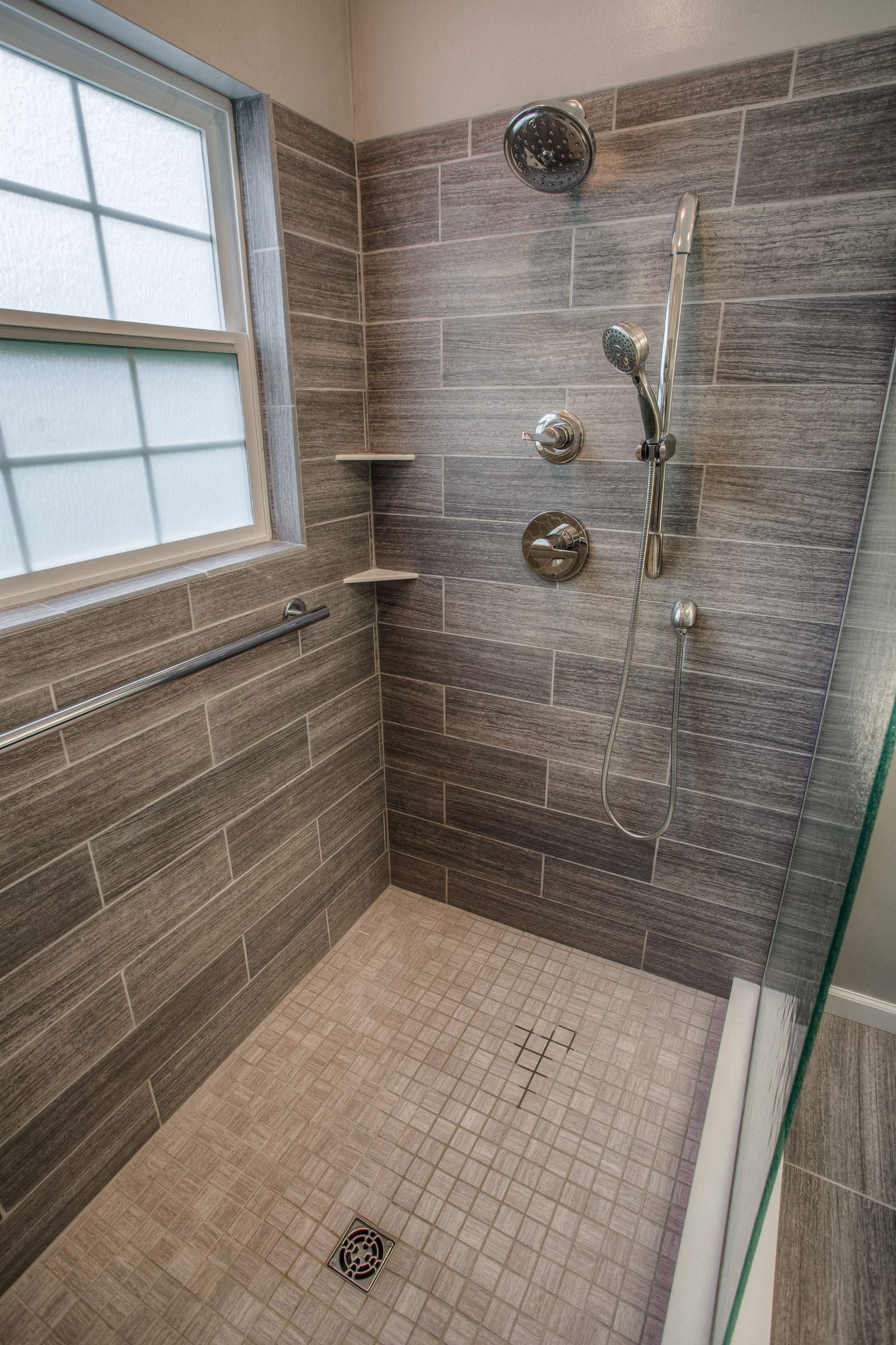 West Lafayette Contemporary Master Bathroom Remodel ... on Modern Small Bathroom Remodel  id=15322