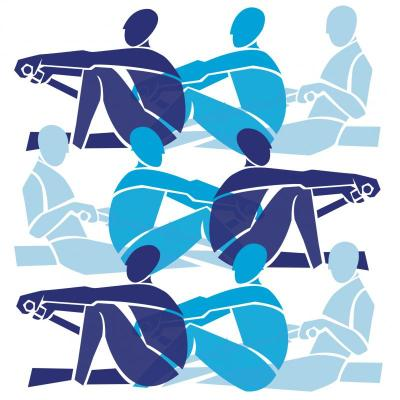 Rowers in Blues by Annabel Eyres
