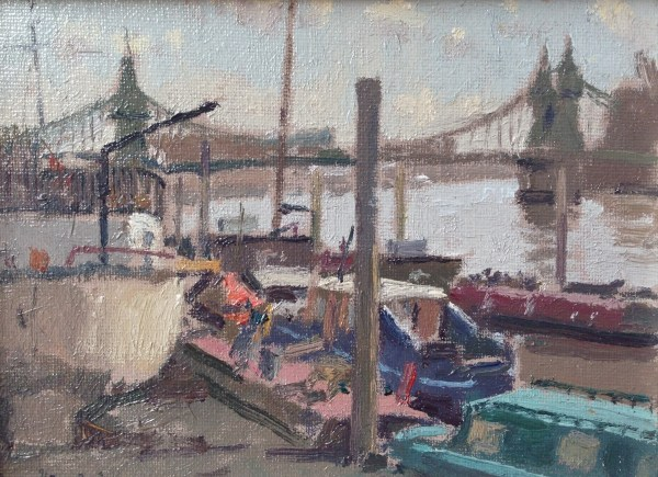 Hammersmith Boats by Rod Pearce Riverside Gallery Barnes