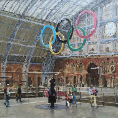 St Pancras Station, London by Rod Pearce Riverside Gallery Barnes