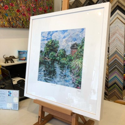 Barnes Pond limited edition print 50x50cm by Nadia Day