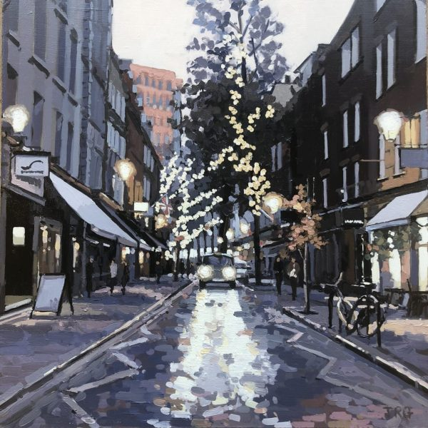 Painting of Autumn, Monument Street by Jennifer Greenland Riverside Gallery Barnes