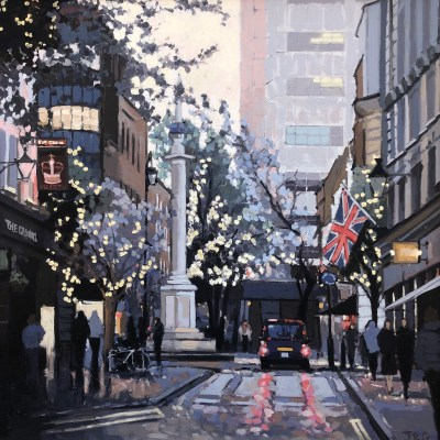 Taxi, Monument Street by Jennifer Greenland Riverside Gallery Barnes