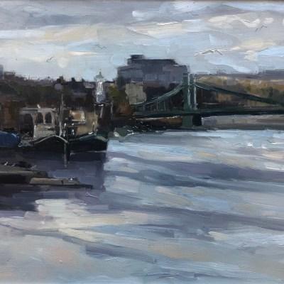 Hammersmith Bridge, Autumn Day by Jennifer Greenland Riverside Gallery Barnes