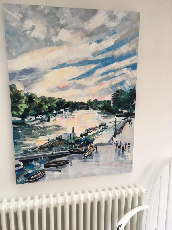 Riverside Evening by Nadia Day Riverside Gallery Barnes