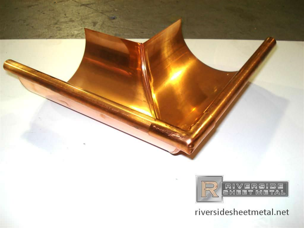 Square Round Copper Downspouts