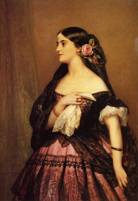 "alt=""Adelina Patti Portrait by Franz Xaver Winterhalter in Public Domain"""