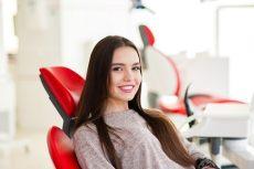 young woman at dentist