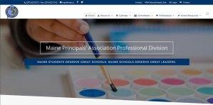 Maine Principals Association Website Screenshot