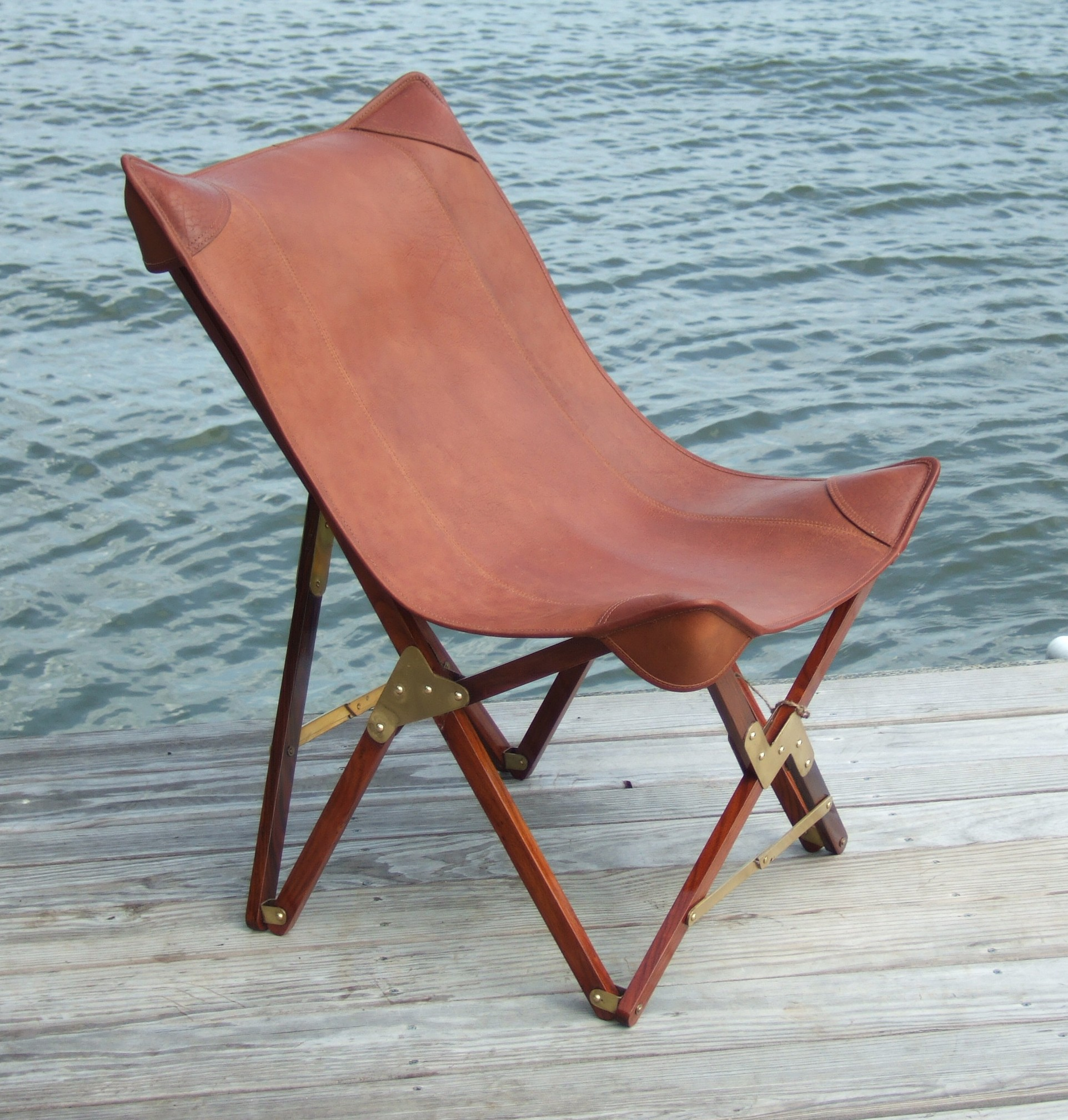 Folding Leather Camp Chairs – Riveted