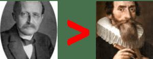 Downgrade from Max Planck to Johannes Kepler