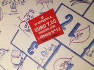 """Nei 20 punti vendita selezionati (vedi diffusione: www.rivistaliquida.it) IN OFFERTA A EURO 7,00 il """"Calendario senza tempo"""" (raccolta di 12 tavole a cura di autori/creativi scelti e pubblicati su LiQMag dal 2011 al 2016) stampato in edizione limitata (750 copie, venduto da solo a € 9,00) INSIEME (paghi 1 e prendi 2) CON LIQMAG N.13 """"SENZA OLIO DI PALMA - Il meglio di LiQMag dal 2011 al 2016"""" stampato in edizione limitata (3000 copie, venduto da solo a € 7,00)."""