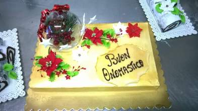 Torta preparata per un cliente occasione di un onomastico. Pasticceria Siciliana.