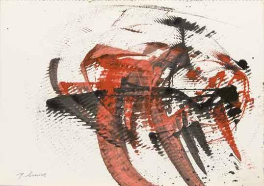 1. Yasuo Sumi, 1954, Senza titolo, 25x35 cm, opera su carta