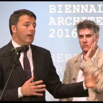 Matteo Renzi e Alejandro Aravena