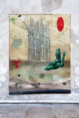 Mirko Baricchi, Archè #1, 2016, tecnica mista su carta fabriano 300 gr, cm. 200x150, foto Luca Peruzzi