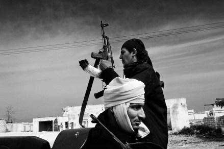 Libya March-April 2011 Ras Lanuf rebel on the frontline