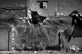 Libya March-April 2011 Ajdabiya houses hit by a rocket by Gheddafi force