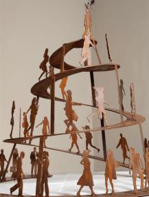 ARTEFORTE_Forte Strino_Buonanno Arte Contemporanea_Corrado Zeni_Babel_2010_ferro_120x100x100 cm