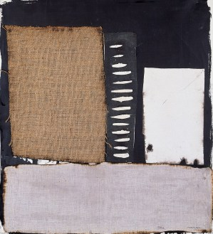Conrad Marca-Relli, Untitled, 1969 collage and mixed media on canvas, 65 x 59 cm.