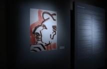 Pier Paolo Pasolini, Ritratto di Roberto Longhi, 1975-carboncino e sanguigna-su carta bianca