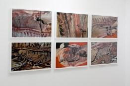 Giovanni Gaggia, Il rocciatore, Nessun tempo, Boom, Il Suicidio di Domenico, Body, Inferno, 2001, tecnica mista, 75x55 cm, Photo Matteo Cattabriga