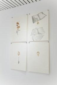 Giovanni Gaggia, Sanguinis Suavitas, 2010, sangue e matita su carta cotone, 56x76 cm, serie. Photo Credits Matteo Cattabriga