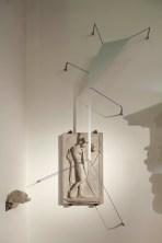 Martino Genchi Raccogli la cosa nell'occhio veduta della mostra, Museo Civico Medievale, Bologna, 2017 Foto Matteo Monti Courtesy Istituzione Bologna Musei
