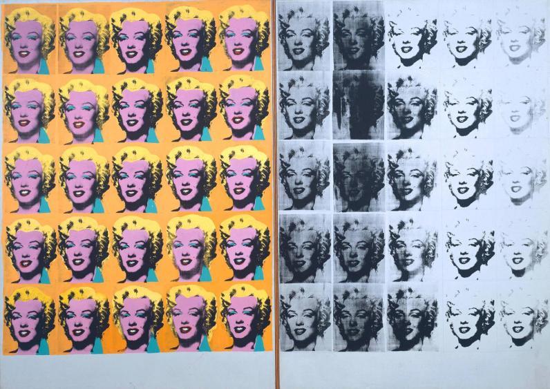 Andy Warhol, Dittico di Marilyn, 1962