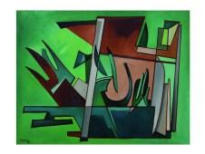 Alberto Magnelli, Voyage, 1937, oil on canvas, cm 89x116, Lorenzelli Arte