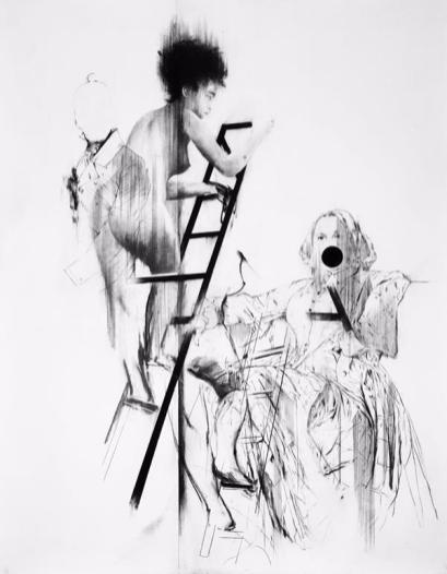 Bernardí Roig, Tableaux Vivant IV (P.Q., la mère et F.B.S. descendant l'escalier), 2017, Galleria Marie-Laurie Fleisch
