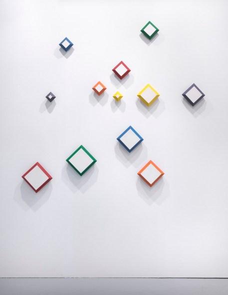 Paolo Minoli, ... i vuoti scolpiti ..., 1989, acrilici su tavola, cm. 173x188. Galleria Bonioni Arte, Artefiera 2017, foto Dario Lasagni (Copia)