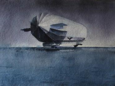Lucia Lamberti, Luft 05, acquerello su carta, cm 60×80, 2014