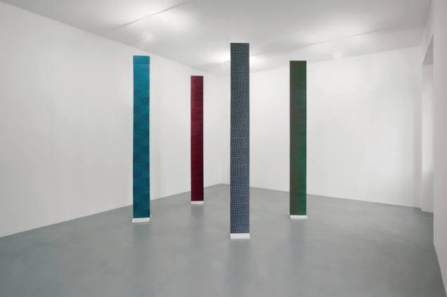 Mario Nigro. Dallo spazio totale 1954: 4 colonne prismatiche a progressioni ritmiche simultanee (passaggio psicologico), 1966