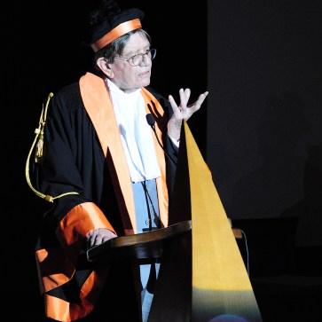 Ettore Spalletti in un momento della sua lezione