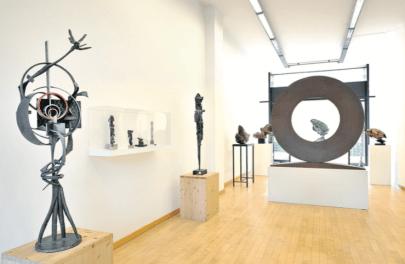 Utopia e Progetto - Installation View - Courtesy Galleria Open Art, Prato (veduta di insieme)