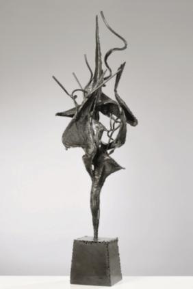 Nino Franchina - Ettore Fieramosca 1960 - ferro - h. cm. 132. Courtesy Galleria Open Art, Prato