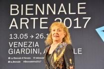 La statunitense Carolee Schneemann, Leone d'oro alla carriera.