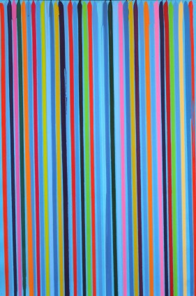 Ian Davenport - Electric Blue Study, 2008 -Water based paints on paper 7...