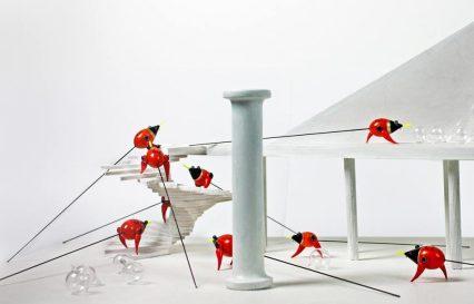 Angelo Maisto, Notturni,installazione,cm36x49x26,2012