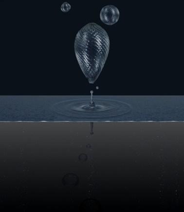 6. Aqua Aura, Liquid still life #2, 2015, stampa digitale su carta cotone Hahnemuehle, montata su alluminio e cornice floccata, cm. 150x130x8