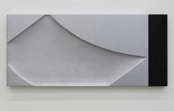 NUNZIO, Untitled, 2017, Piombo, legno combusto, 39x89cm