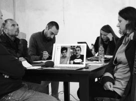 Transpolitica, D.Capra, A.Bellobono, G.Gaggia, I.Pers, T. Pers, in video Bianco-Valente, Ferrara OFF, 1:10:2017, ph Federica Zabarri