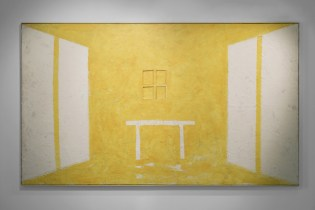 Art City - Gianni Dessì, Studio Giallo, 2003, olio ed encausto su tela, cm 223x383